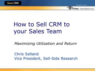 How to Sell CRM to your Sales Team