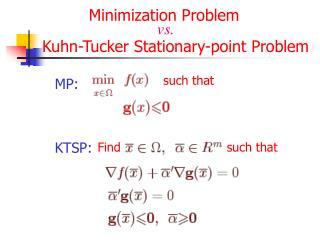 Minimization Problem