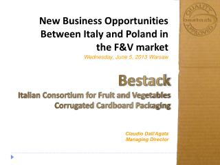 New Business Opportunities Between Italy and Poland in the F&V market