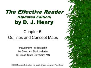 The Effective Reader Updated Edition by D. J. Henry