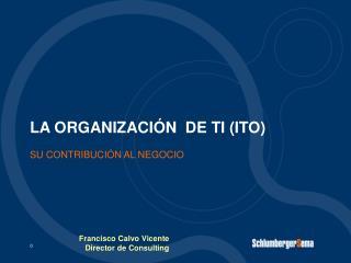 LA ORGANIZACIÓN  DE TI (ITO)