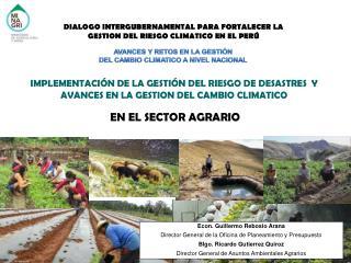 IMPLEMENTACIÓN DE LA GESTIÓN DEL RIESGO DE DESASTRES  Y