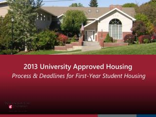 2013 University Approved Housing