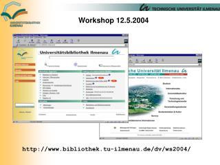 Workshop 12.5.2004