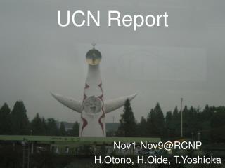 UCN Report