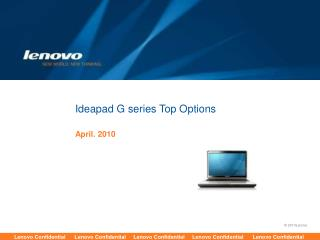 Ideapad G series Top Options