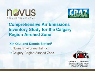 Comprehensive Air Emissions Inventory Study for the Calgary Region Airshed Zone