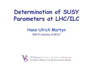 Determination of SUSY Parameters at LHC/ILC