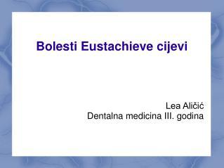 Bolesti Eustachieve cijevi