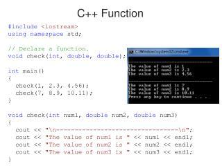 C++ Function