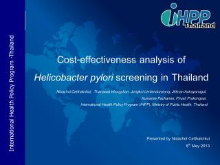 Cost-effectiveness analysis of  Helicobacter pylori  screening in Thailand