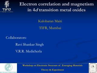 Electron correlation and magnetism in 4 d  transition metal oxides