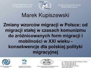 Powojenne przemiany migracji  międzynarodowych w Polsce