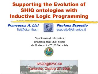 Supporting the Evolution of SHIQ ontologies with  Inductive Logic Programming