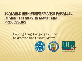 Scalable High-Performance Parallel Design for NIDS on Many-Core Processors