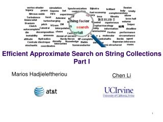 Efficient Approximate Search on String Collections Part I