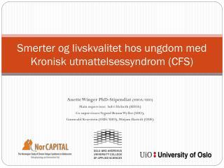 Smerter og livskvalitet hos ungdom med Kronisk utmattelsessyndrom (CFS)
