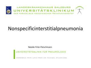 Nonspecificinterstitialpneumonia