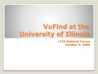 VuFind  at the University of Illinois