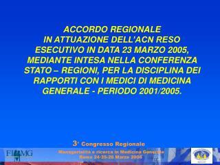 3 ° Congresso Regionale