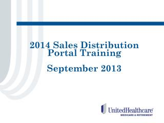 2014 Sales Distribution Portal Training September 2013