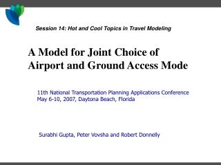 A Model for Joint Choice of Airport and Ground Access Mode