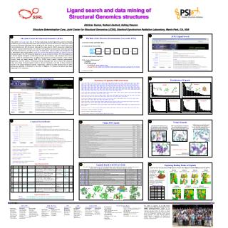Ligand search and data mining of  Structural Genomics structures