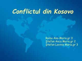 Conflictul din Kosovo