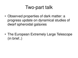 Two-part talk