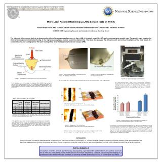 Micro-Laser Assisted Machining (µ-LAM): Scratch Tests on 4H-SiC