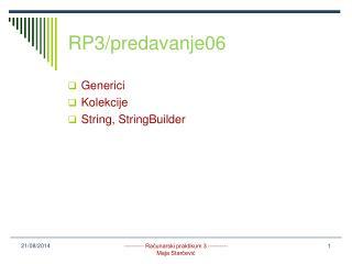 RP3/predavanje06