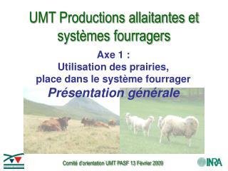 UMT Productions allaitantes et systèmes fourragers