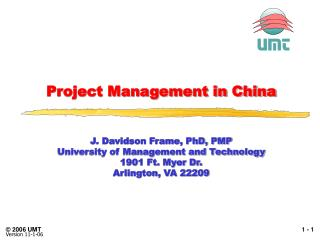 Project Management in China