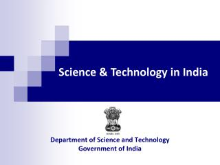 Department of Science and Technology Government of India