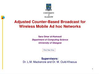 Adjusted Counter-Based Broadcast for  Wireless Mobile Ad hoc Networks