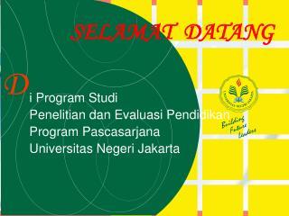 i  Program Studi Penelitian dan Evaluasi Pendidikan Program Pascasarjana