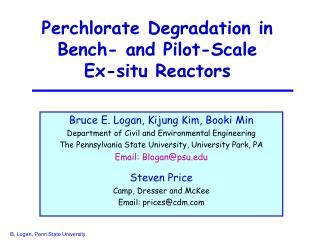 Perchlorate Degradation in Bench- and Pilot-Scale Ex-situ Reactors
