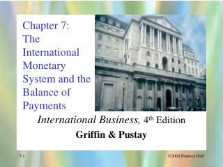 Chapter 7: The International Monetary System and the Balance of Payments