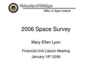 2006 Space Survey