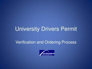 University Drivers Permit