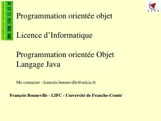 François Bonneville - LIFC - Université de Franche-Comté