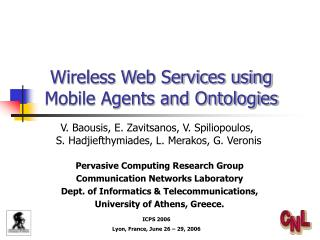 Wireless Web Services using  Mobile Agents and Ontologies