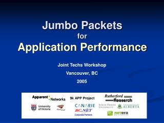 Jumbo Packets for Application Performance