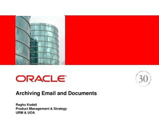 Archiving Email and Documents
