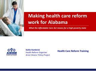 Making health care reform    work for Alabama