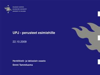 UPJ - perusteet esimiehille