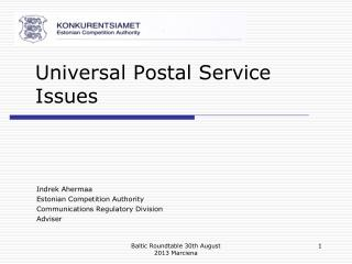 Universal Postal Service Issues