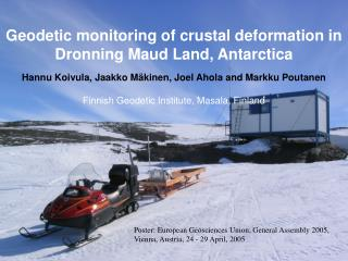 Geodetic monitoring of crustal deformation in Dronning Maud Land, Antarctica