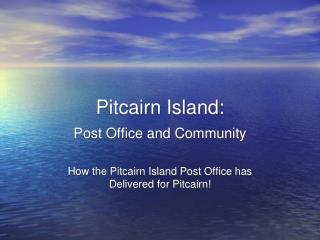 Pitcairn Island: