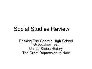 Social Studies Review